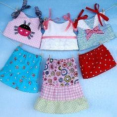 18 Inch Doll Shirts & Skirts Sewing Pattern by Precious Patterns at YouCanMakeThis.com