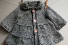 Tiered Baby Coat and Jacket knitting pattern by Lisa Chemery - Frogginette Knitting Patterns