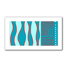 'Fabric Design II' by Jan Weiss Painting Print on Canvas