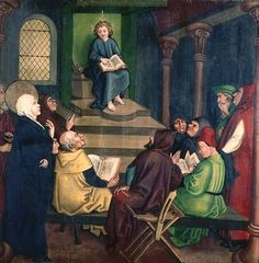 Jesus with the Doctors, from the Altarpiece of the Dominicans, c.1470-80, Martin Schongauer