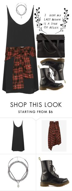 """""""Freja"""" by sombrasdelcarax ❤ liked on Polyvore featuring Topshop, Faith Connexion, Charlotte Russe, Dr. Martens and Alexander Wang"""