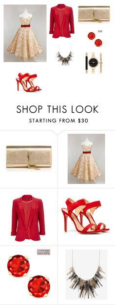 """""""Untitled #1688"""" by jamierountree1 ❤ liked on Polyvore featuring beauty, Yves Saint Laurent, Wallis, Schutz and Style & Co."""