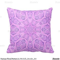 Fantasy Floral Pattern Pillow