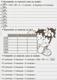 Atividades de Matemática para o 3ºano prontas para imprimir – Atividades Jardim colorido para o Ensino Infantil English Lessons For Kids, Math 2, School Worksheets, Teaching Kids, Diagram, Comics, Decimal, Samara, Natural