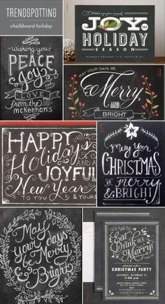 Printable Christmas Chalkboard Messages
