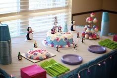 Simple cake table for party