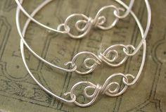 Sterling Silver Bracelet,Silver Link Wire Wrapped Bracelet,Simple Sterling Bracelet,Simple Sterling Silver Bracelet,Bracelet Sterling(#1639) by TwistdbyDesign on Etsy