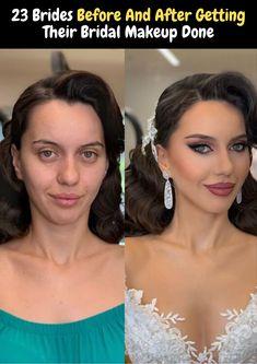 Professional makeup artist shares 23 photos taken before and after brides got their wedding makeup Jade Eyes, Becoming A Makeup Artist, Makeup Before And After, Unique Makeup, Pin Curls, Asian Makeup, Dramatic Look, Professional Makeup Artist, Glossy Lips
