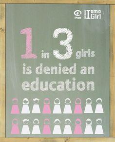 1 in 3 girls is denied an education #TailoredforEducation