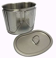 G.i. Type Stainless Steel Canteen Cup, Brand New with Lid, Brushed Matte Finish. -- Check out the image by visiting the affiliate link Amazon.com on image.