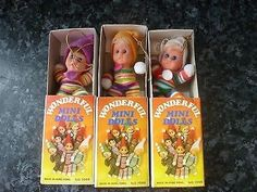 Job lot x 3 Mini Bean Doll In Matchbox Wonderful dolls Retro vintage 1970s toys (03/09/2014)