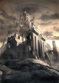 """""""Dark Kastle"""" by Raphael Lacoste    http://fc01.deviantart.net/fs21/i/2007/233/3/0/Dark_Kastle_by_Raphael_Lacoste.jpg"""