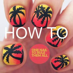Tutorial: Red Gradient Palm Trees
