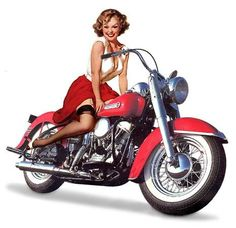 vintage harley davidson pin up girls | Pin Up Girl Graphics, Pictures, & Images for Myspace Layouts