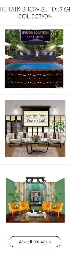"""""""THE TALK SHOW SET DESIGN COLLECTION"""" by arjanadesign ❤ liked on Polyvore featuring interior, interiors, interior design, home, home decor, interior decorating, H&M, Cost Plus World Market, Home Decorators Collection and Stellar Works"""