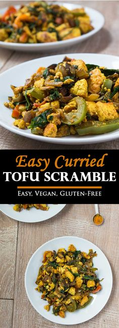 Easy Curried Tofu Scramble Recipe #glutenfree #vegan | www.Vegeteariangastronomy.com