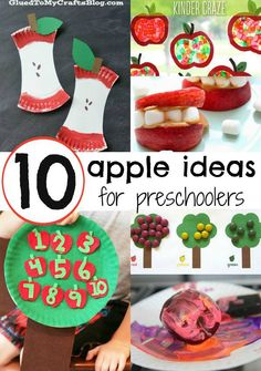 10 Ways to Play with apples - preschoolers will love these crafts, games, activities, and snacks!