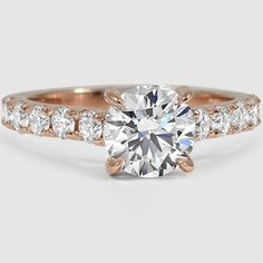 14K Rose Gold Luxe Anthology Diamond Ring // Set with a 1.30 Carat, Round, Super Ideal Cut, H Color, VS1 Clarity Lab Diamond #BrilliantEarth