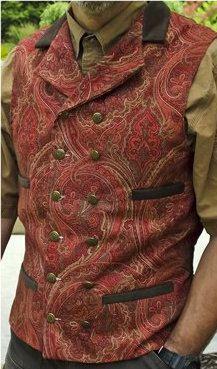 Victorian Western Cowboy Steampunk Linen Waistcoat by SatinShadowDesigns, $195.00