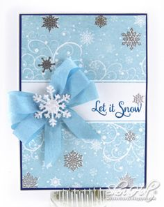 Snowfall Background Cling Stamp