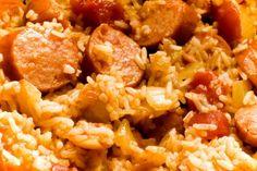 Slow Cooker Sausage Jambalaya - All Jambalaya's are tasty, but I really like Sausage Jambalaya!  YUM!  www.GetCrocked.com