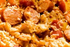 Slow Cooker Sausage Jambalaya - All Jambalaya's are tasty, but I really like Sausage Jambalaya!  YUM!  www.GetCrocked.com