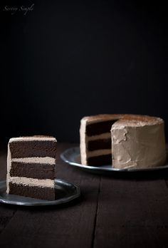 Chocolate Espresso Layer Cake with Chocolate Espresso Italian Meringue Buttercream.  I believe my heart just skipped a beat…or two. Chocolate Espresso, Best Chocolate, Chocolate Cake, Espresso Cake, Espresso Vodka, Decadent Chocolate, Espresso Coffee, Layer Cake Recipes, Dessert Recipes