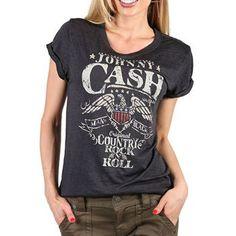 Zion Rootswear Women's Johnny Cash Graphic Tee