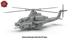 3d model of Attack Helicopter Bell AH 1Z Viper Rigged by 3d_molier Inter...