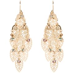 Accessorize Filigree Leaf Chandelier Earrings ($20) ❤ liked on Polyvore featuring jewelry, earrings, beaded jewelry, leaf earrings, filigree earrings, bead jewellery and leaves jewelry