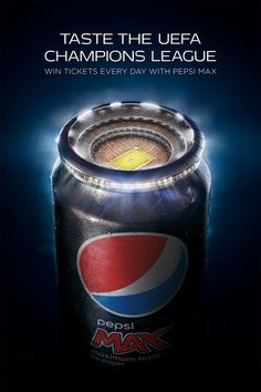 The Print Ad titled Stadium was done by AMV BBDO London advertising agency for product: Pepsi Max (brand: Pepsi) in United Kingdom. It was released in the Nov 2015.