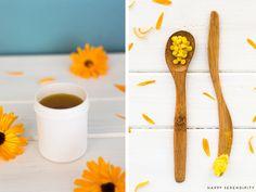 selbstgemachte ringelblumensalbe ist ganz einfach, probiers doch mal aus, ein rezept von happy serendipity