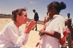 Audrey Hepburn On a field mission as UNICEF ambassador in Ethiopia, March 1988.