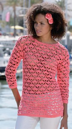 I hope you have enjoyed this beautiful crochet, the free pattern is HERE so you can make a beautiful crochet. Crochet Jumper, Crochet Cover Up, Crochet Quilt, Crochet Cardigan, Crochet Shawl, Crochet Lace, Crochet Woman, Pullover, Beautiful Crochet