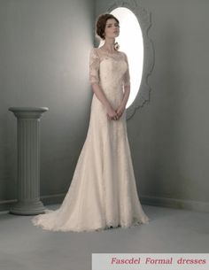 2014 New Long sleeve Wedding dress Bridal Gown Size4 6 8 10 12 14 16 18 20+