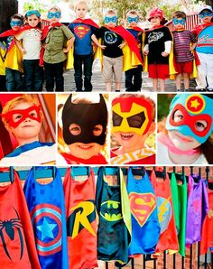 ideas y tips originales para fiestas Avengers Birthday, Superhero Birthday Party, Boy Birthday, Superman Party, Wonder Woman Party, Joint Birthday Parties, Lego Super Heroes, Mask For Kids, Party Themes