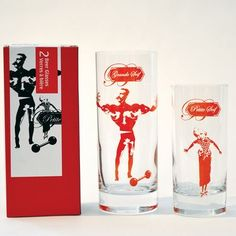 The Couple: Duo Beer Glasses - set of two screen printed drinking glasses Kitchenware, Tableware, All Design, Pint Glass, Screen Printing, Drinking, Beer, Couple, Printed