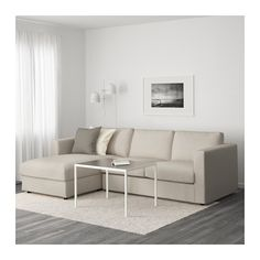VIMLE Sofa, with chaise, Gunnared beige with chaise/Gunnared beige