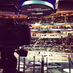 At CONSOL Energy Center gearing up for our Penguins photo shoot.