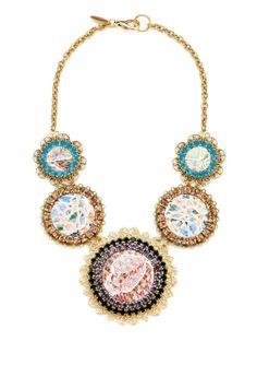 ideeli | LENORA DAME Lace Overlay Station Necklace
