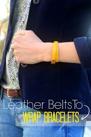 Turn leather Belts into jewelry with this tutorial for DIY Wrap Bracelets!
