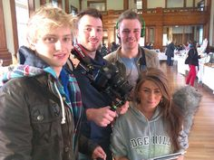 Video production team at Edge Hill University, Ormskirk, helping to promote Fair Trade by filming for our YouTube Channel.  Great work, guys!  #Fairtrade #Video #YouTube #Filming #VideoProduction