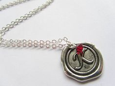Personalised Necklace With Birthstone Charm