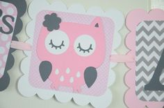Hey, I found this really awesome Etsy listing at https://www.etsy.com/listing/188081502/its-a-girl-banner-girl-banner-pink-owl