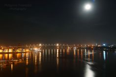 Moon over Mactan Bridge, Cebu-City