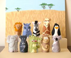 Zoo Animal Finger Puppets (Choose 4). $30.00, via Etsy.