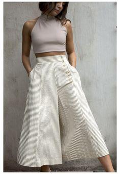 Look Fashion, Fashion Pants, Girl Fashion, Modest Fashion, Fashion Dresses, Mode Kimono, Summer Outfits, Casual Outfits, Pants For Women