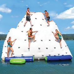 If the water ever comes back up at the lake, this is a must-have for the Hudson's 4th of July party.