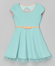 Coral Western Belted Dress - Girls | zulily
