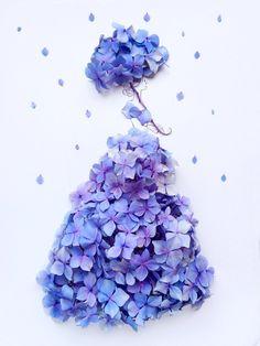 Flower Crafts, Flower Art, Cute Cartoon Girl, Drawing Wallpaper, Art Drawings For Kids, Fashion Design Drawings, Creative Sketches, Flower Fashion, Flower Dresses